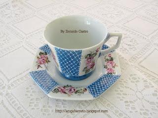 Xícara de Porcelana - Zenaide Castro