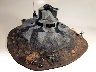 Completed Bunker for Warhammer 40k -Front Right View
