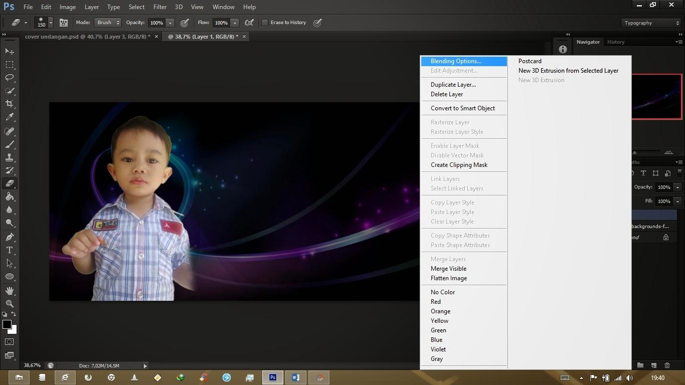 Rizal AMD-RVH: Cara membuat cover undangan di Photoshop