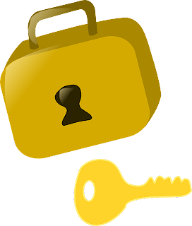 kunci dan gembok kartun