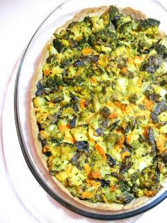 tarta cu brocolli si ciuperci
