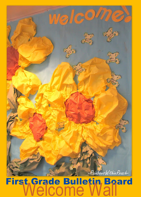 photo of: Spring Bulletin Board, Flower bulletin Board, School bulletin board for Spring