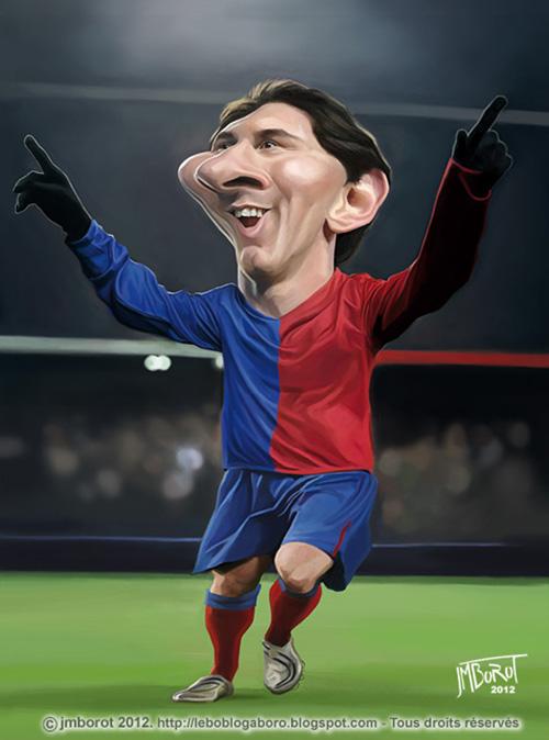"Caricatura de ""Lionel Messi"" por Jean-Marc borot"