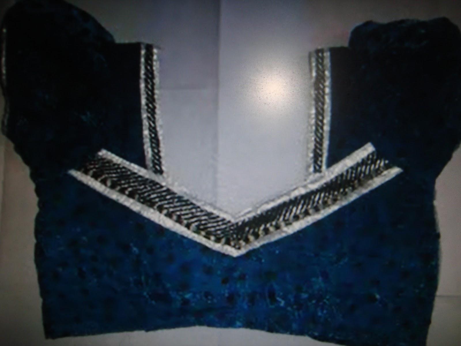 V shape back neck patterns