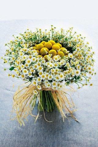 Ramo de novia en tonos amarillos