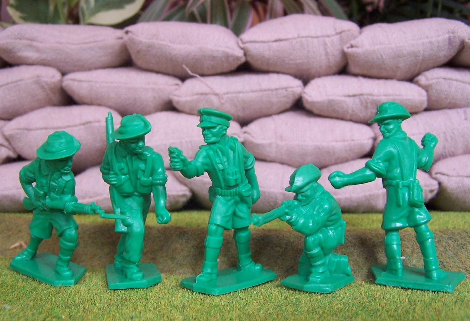 WWII Plastic Toy Soldiers