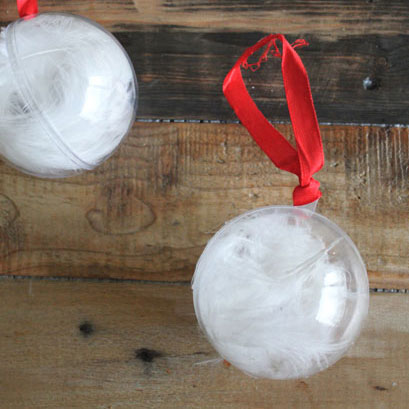 Feather Snowball DIY