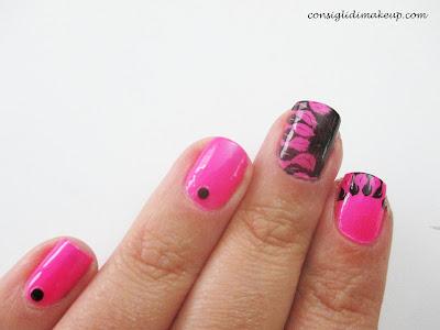 Nail art: effetto piuma