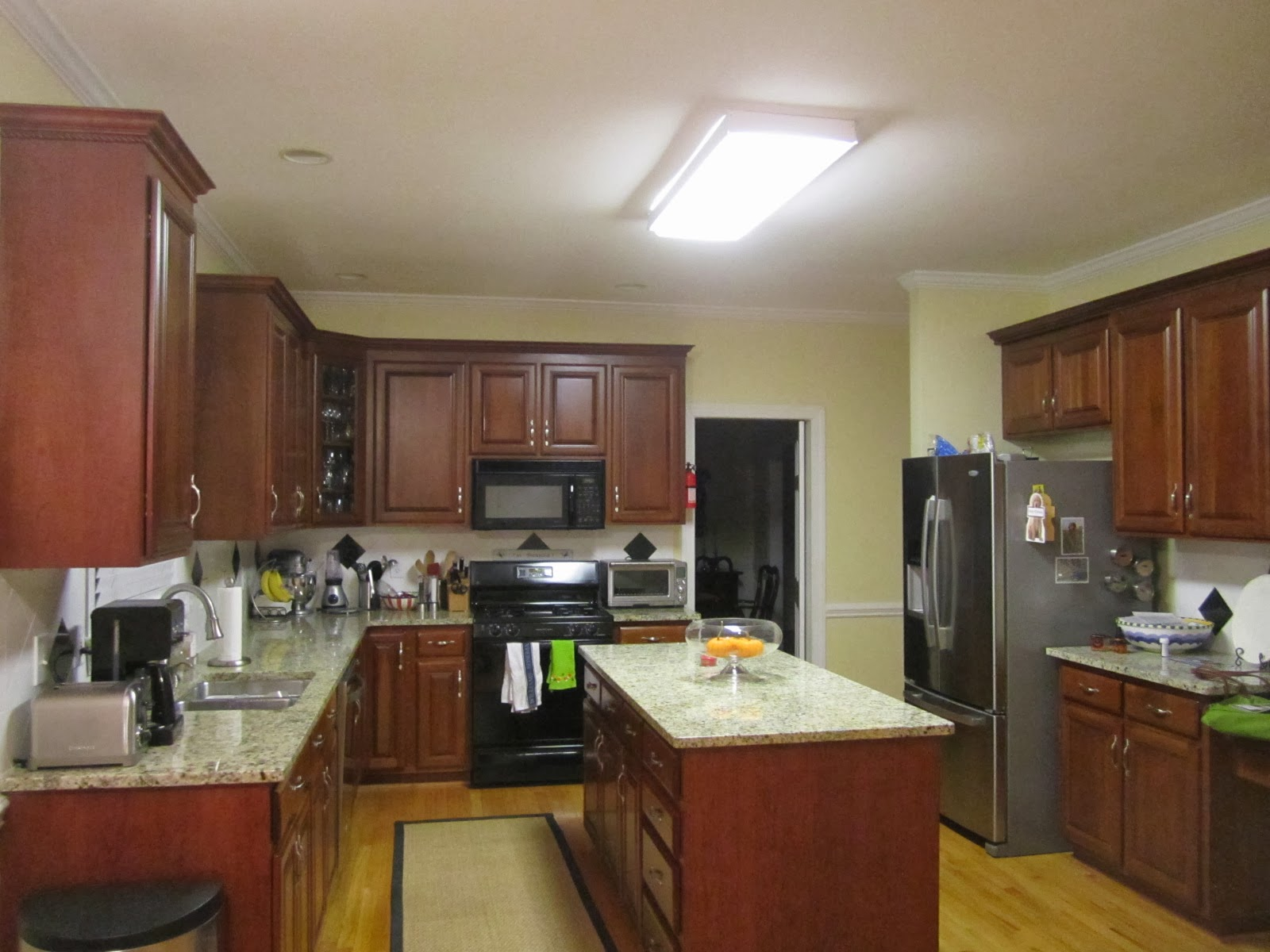 Kitchen Lighting Before And After