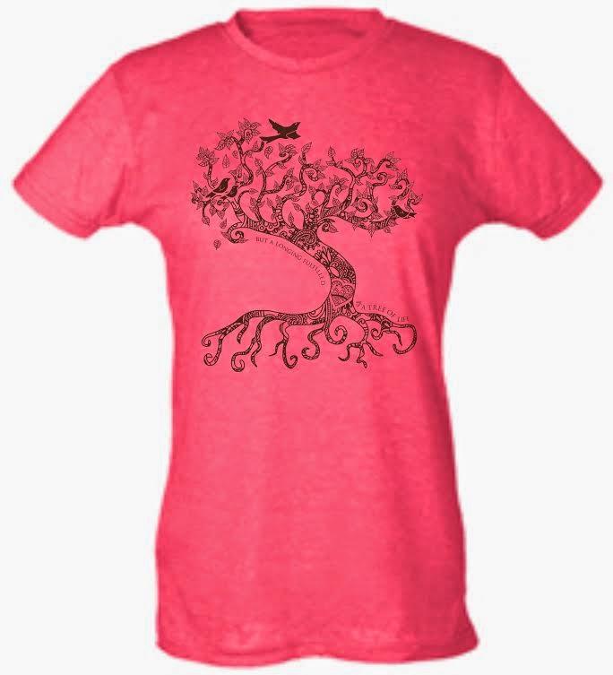 Henna tree of life t shirt adoption fundraiser the reveal for Adoption fundraiser t shirts