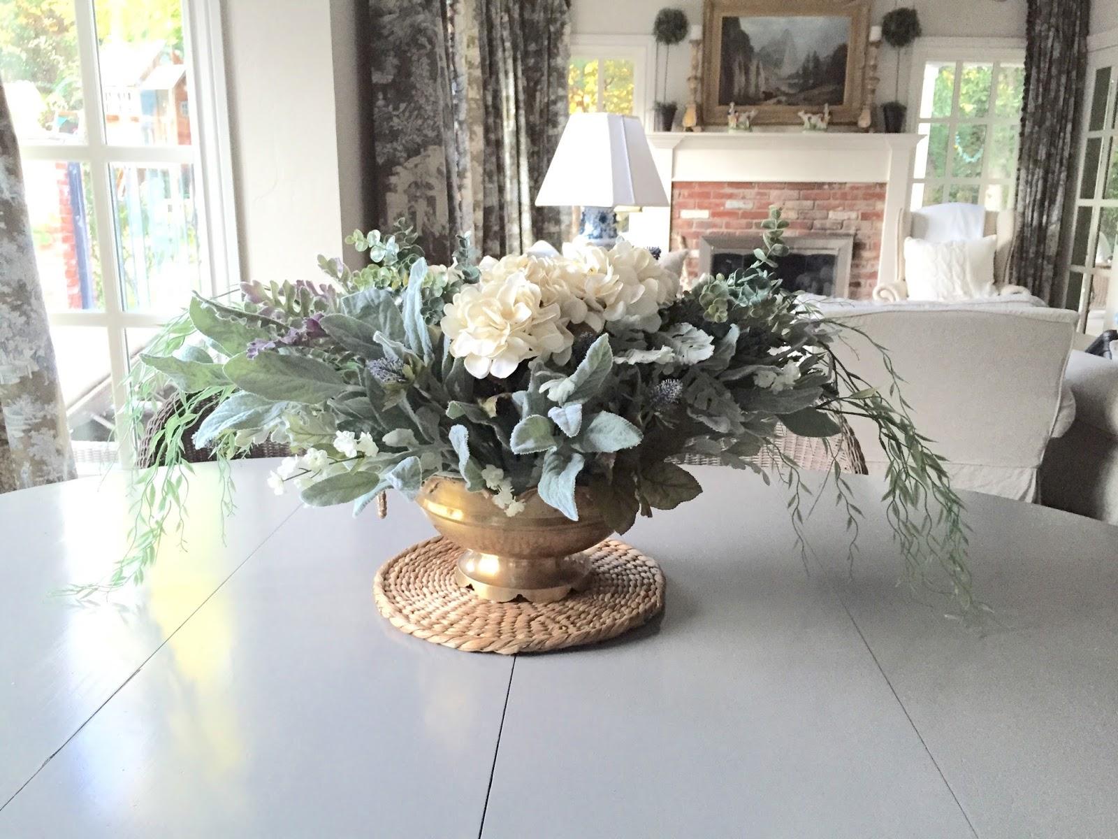 Eleven gables diy gorgeous faux floral centerpiece