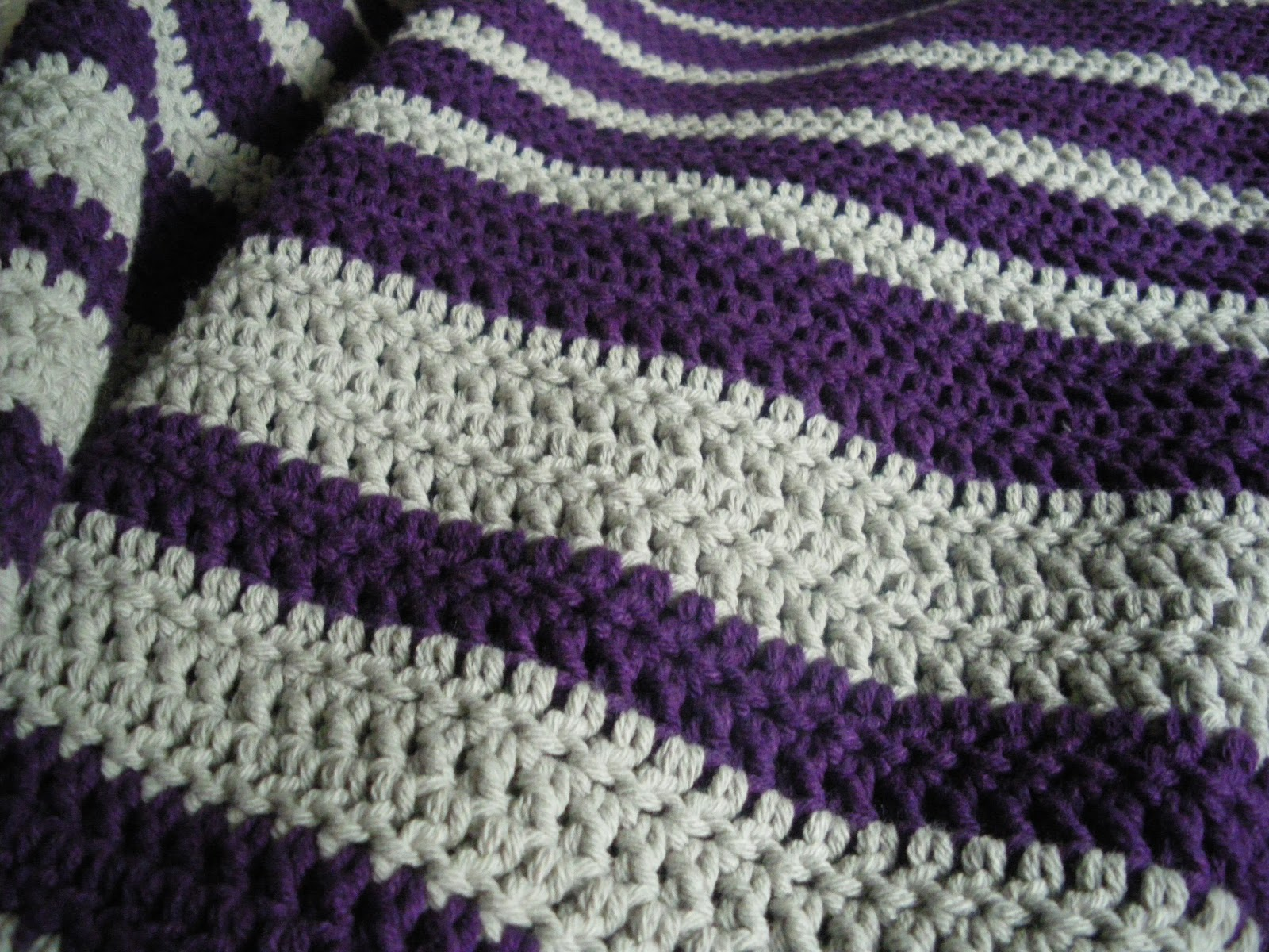 The Scarf and Stripe: striped crochet blanket