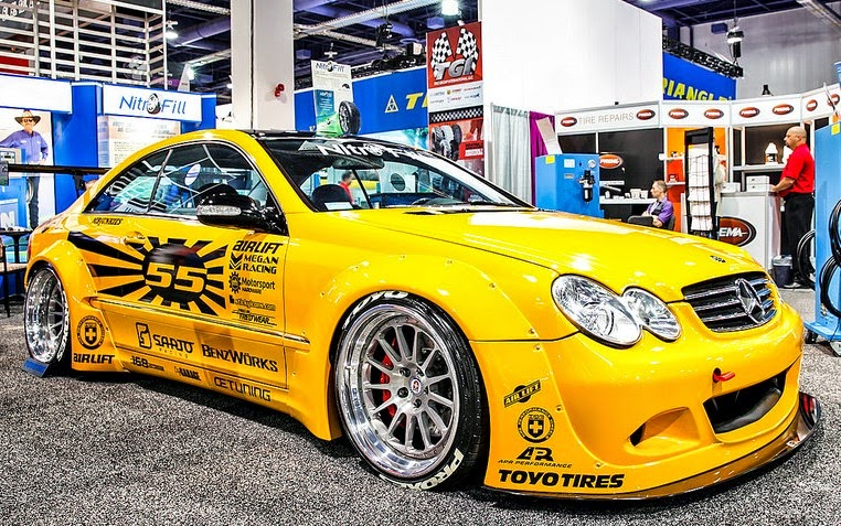 Custom Mercedez Benz CLK In Yellow Car Paint With Nice Sticker ...
