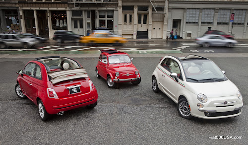 New Fiat 500C and Original