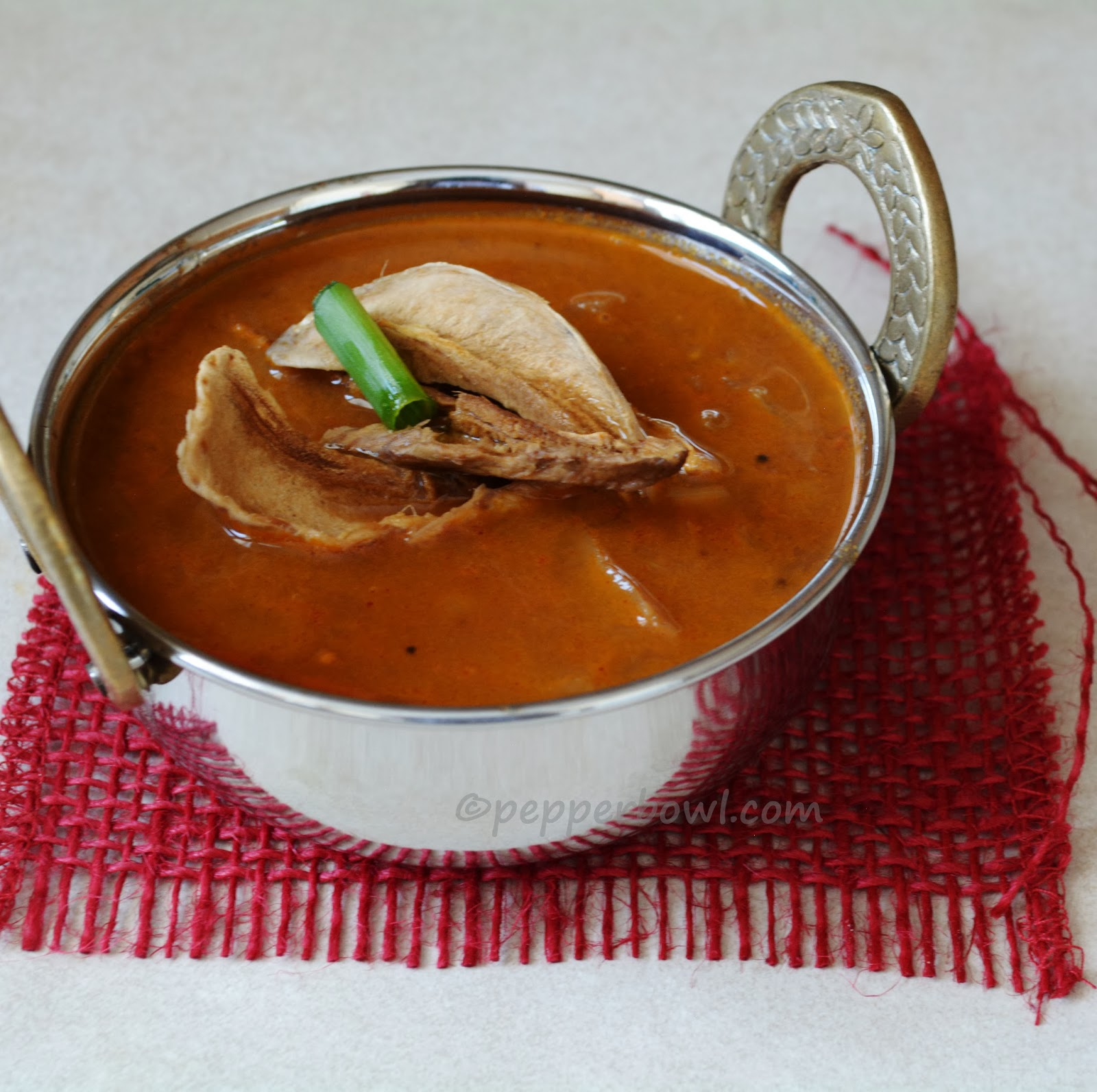 Maavathal Kuzhambu- Sun dried mango Curry