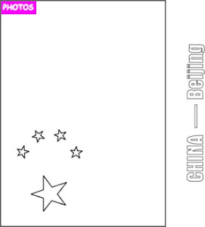Chinese Flag Coloring Page Printable