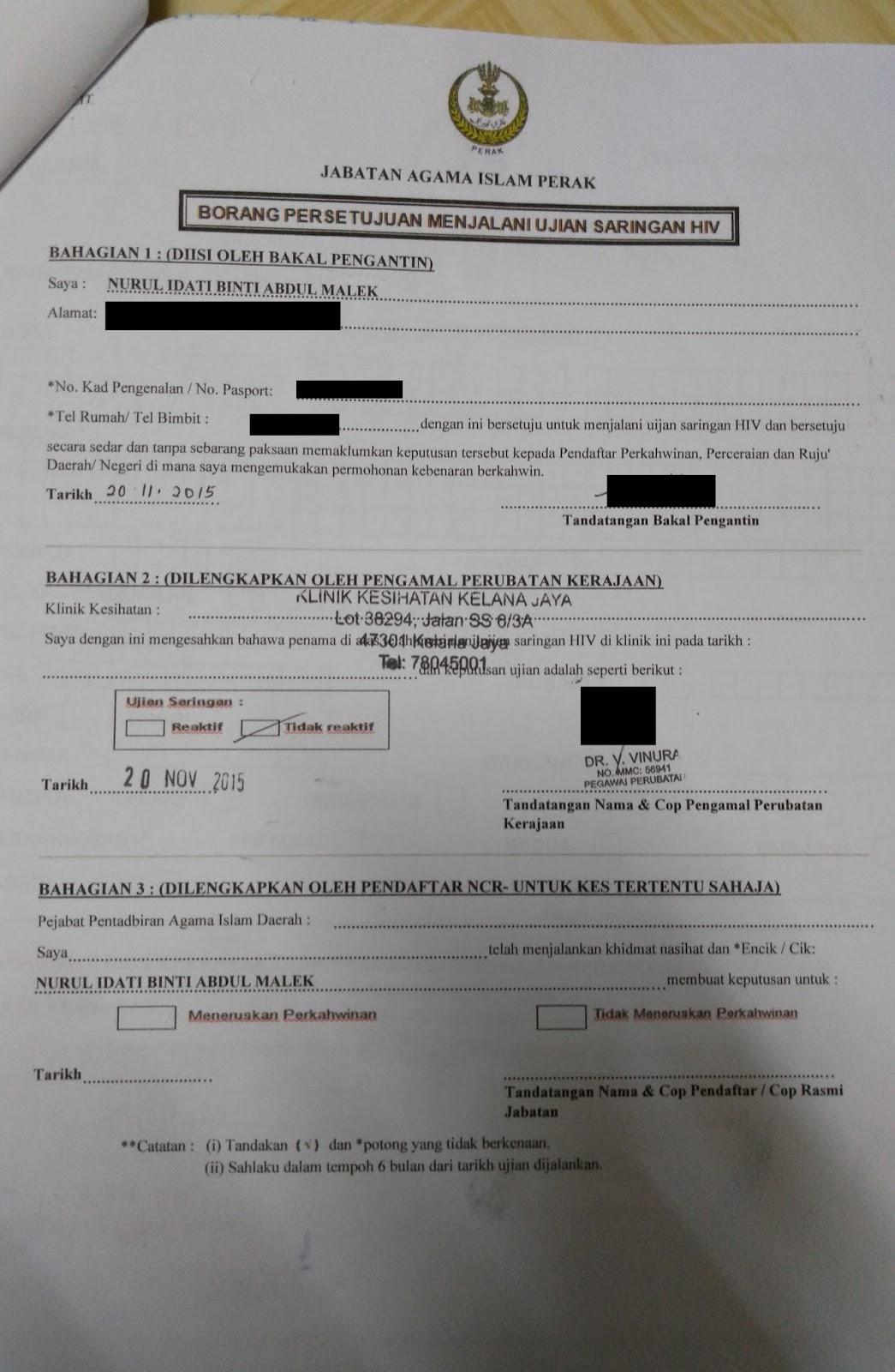 Cara Cara Isi Borang Nikah Online 2015 Perak Johor Hutan Kabut