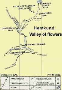 VALLEY OF FLOWERS - MAP