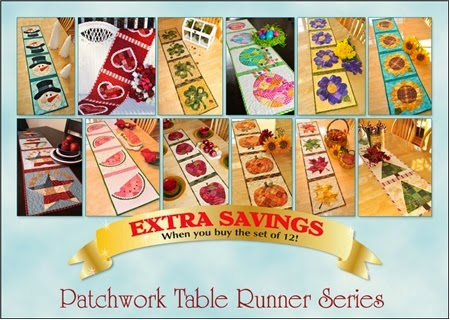 Patchwork Table Runners | Shabby Fabrics