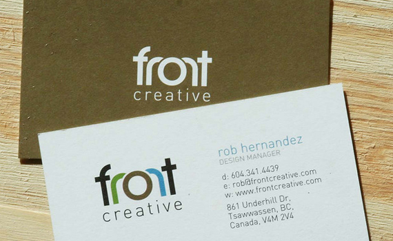 Front Creative Business Card