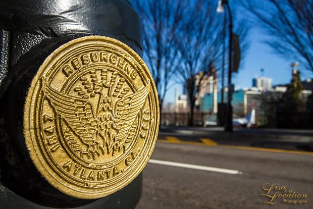 365 photography project, Atlanta street light emblem, resurgens