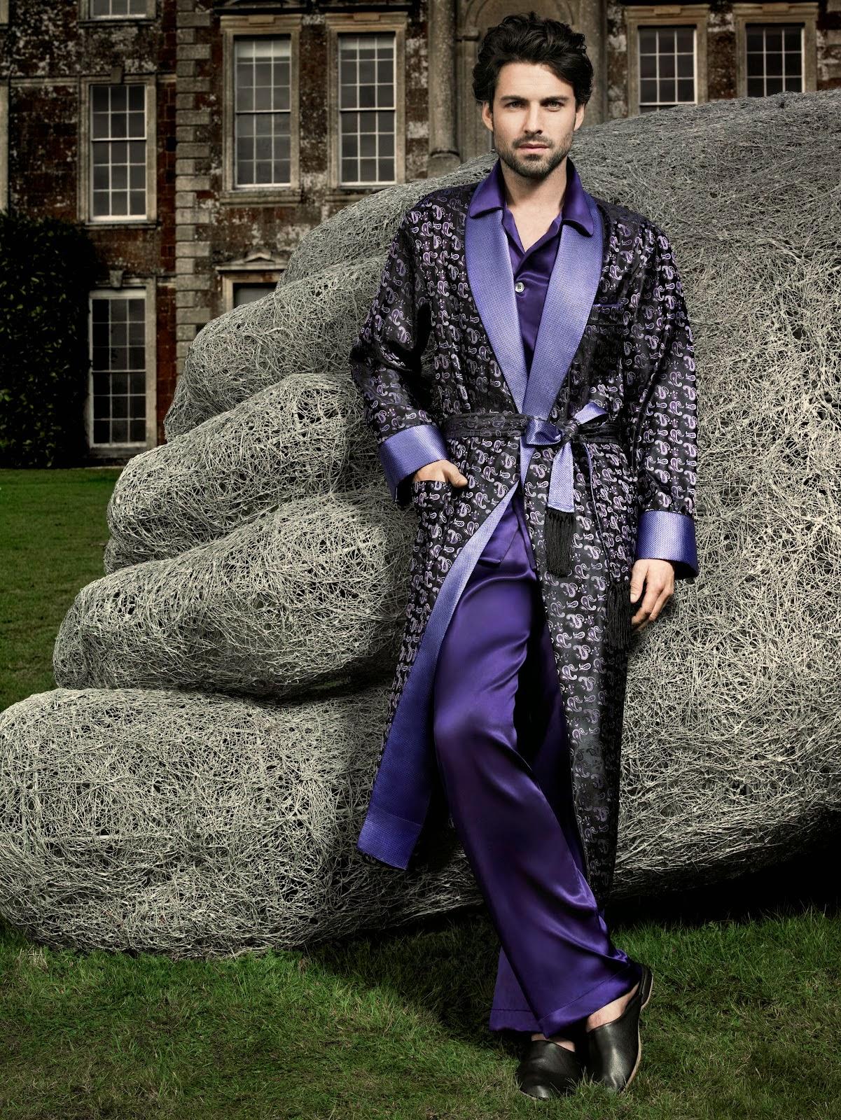Pijamas Elegantes de Seda, Hombres