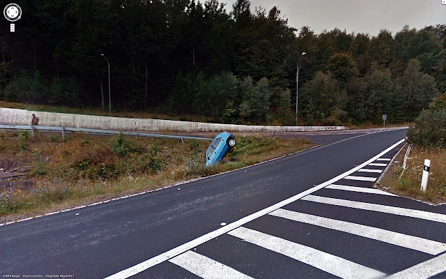 car accident on street view