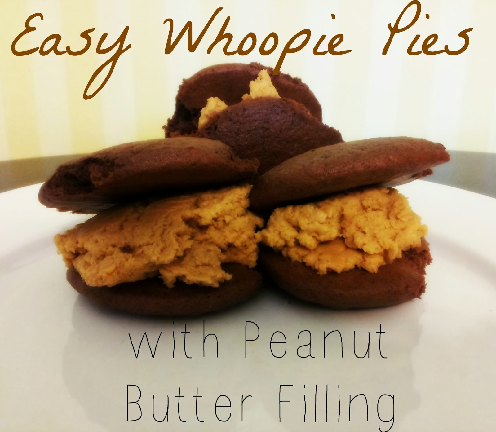 whoopie pies, food, sweets, easy, peanut butter, cream cheese, fast, cake mix, filling