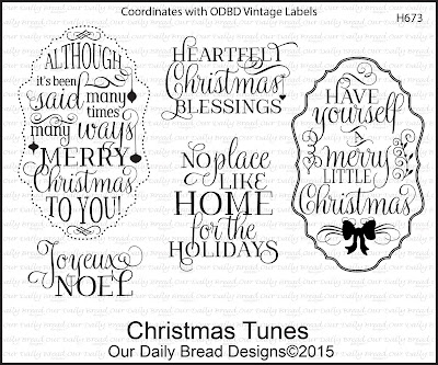 Our Daily Bread Designs Stamp set - Christmas Tunes