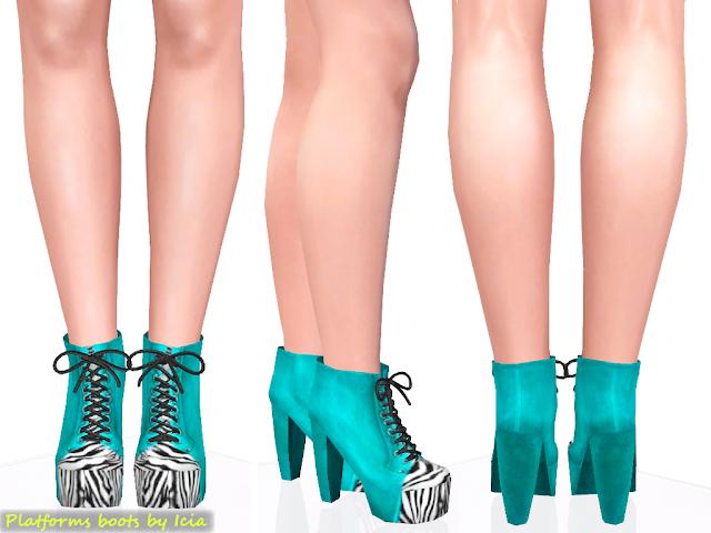 Lita Platforms by Icia Platform+boots_turquose
