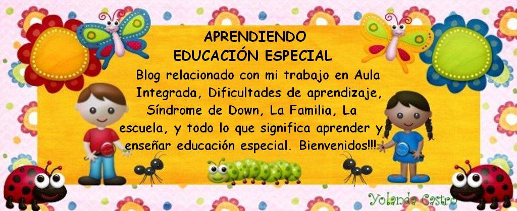APRENDIENDO EDUCACION ESPECIAL.