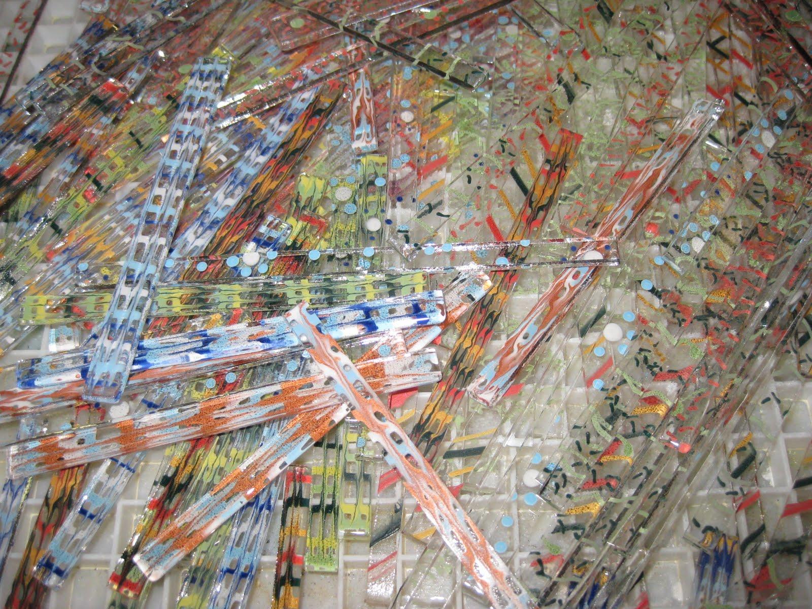 Calyx Glass Blog: Glassline Paints on Clear Glass
