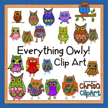 Owls, and more Owls... Clip Art !