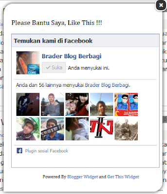 Cara Memasang Widget Like Box Facebook Melayang di Blog
