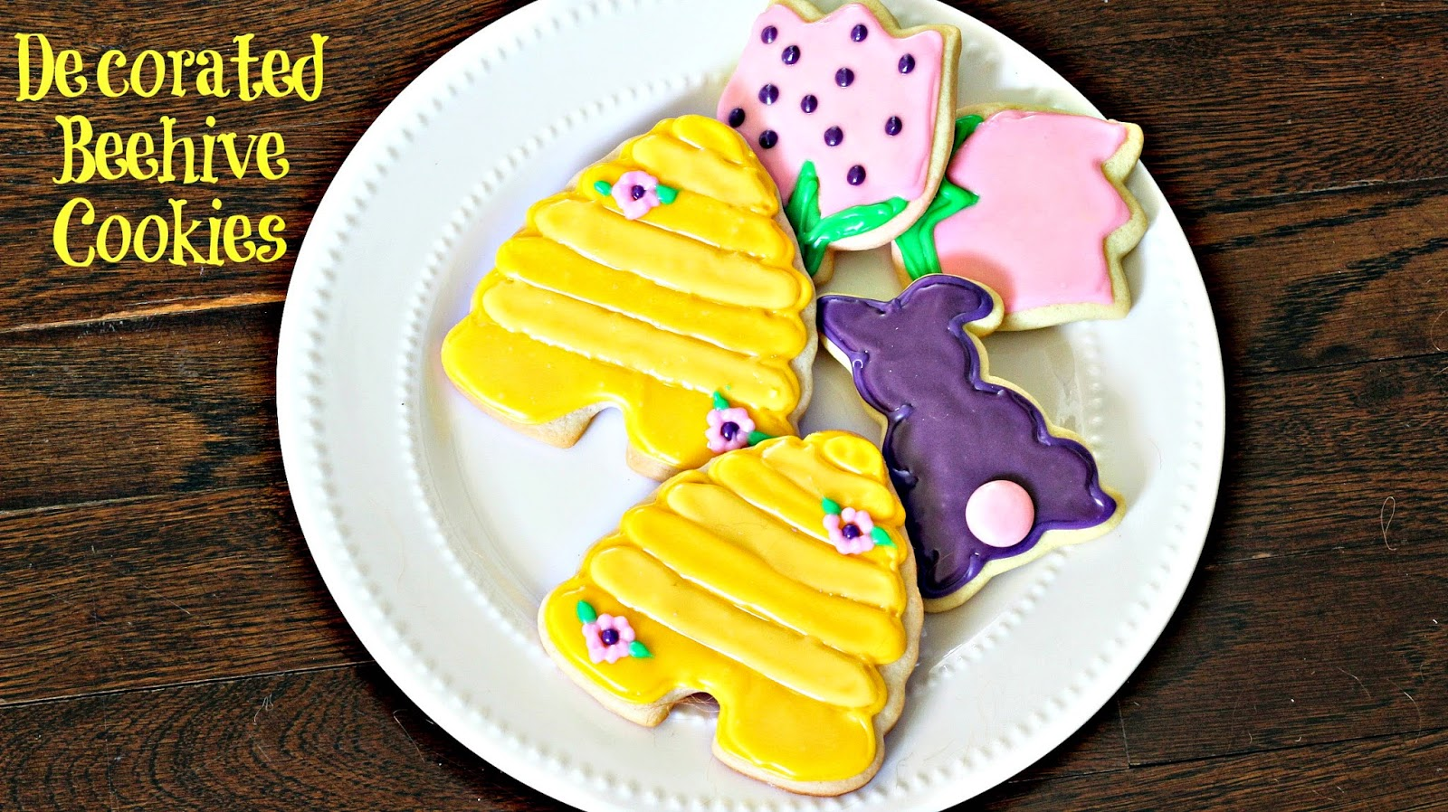 iced sugar cookies spring beehives