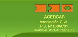 Acercar Asociación civil ( centro de día para personas con discapacidad) Provincia de Cordoba