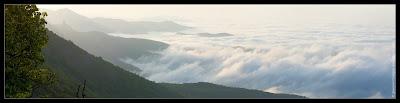 Рассвет на перевале Калистон. Панорама