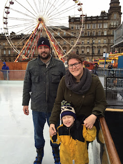 Ice Skating George Square Wheel Glasgow