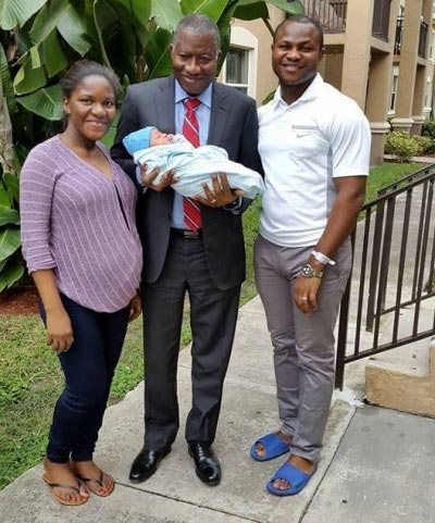 Former President Goodluck Jonathan Welcomes Second Grandchild (Photos)