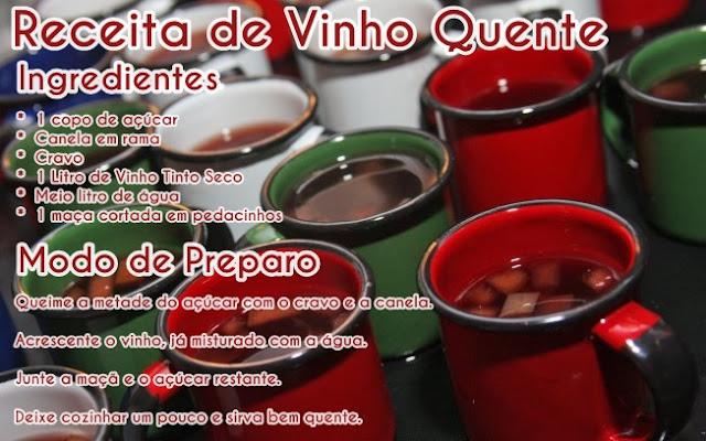 Receita Vinho Quente