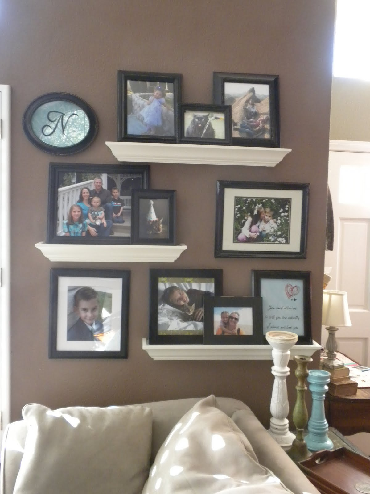 August 2012 home decor outlets - Shelving for picture frames ...