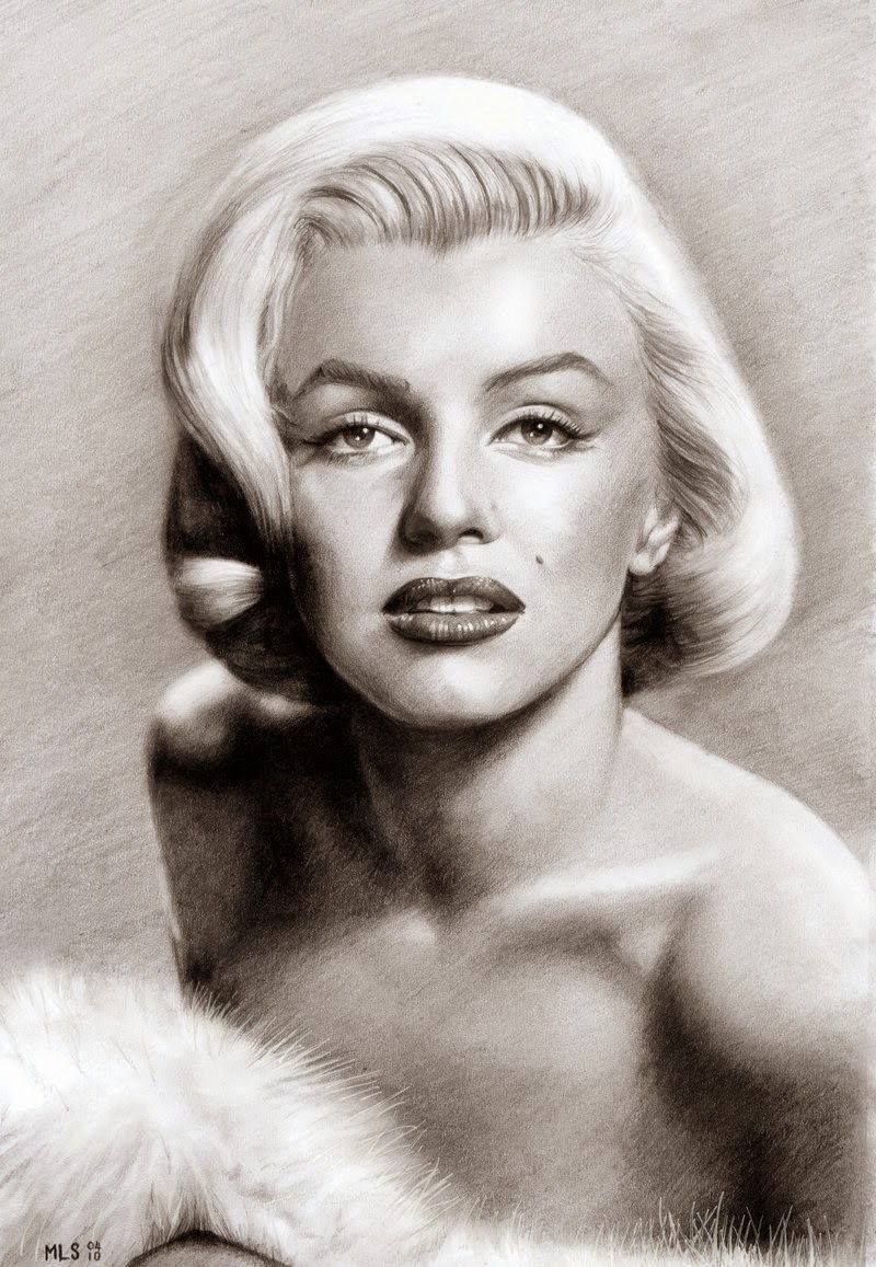 10-Marilyn-Monroe-Martin-Lynch-Smith-MLS-art-Celebrity-Drawings-www-designstack-co