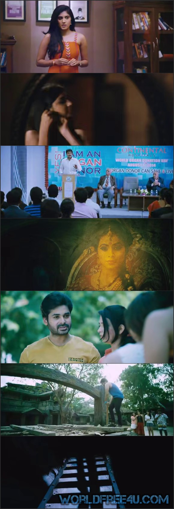 Screen Shot Of Raju Gari Gadhi 2015 300MB Full Movie Hindi Dubbed Free Download 480P BRRip Small Size PC Movie