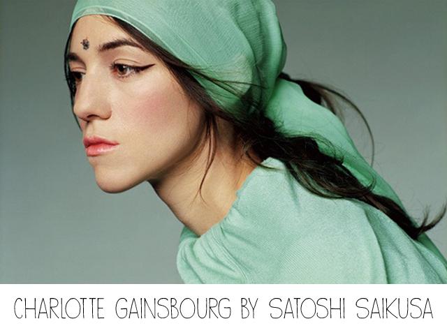 Charlotte Gainsbourg , foulard vert