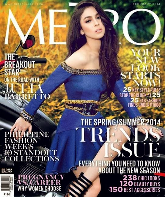 Julia Barretto Covers Metro Magazine February 2014 Issue