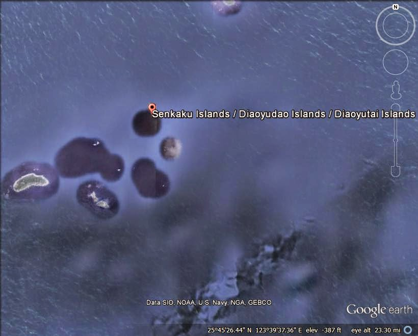 The Senkaku/Diaoyu Islands - disputed island ranked 2nd