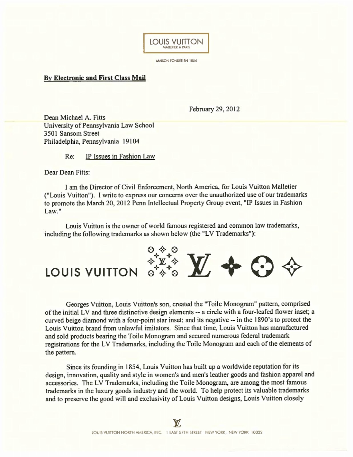 Louis Vuitton Threatened By Law Students Fashion Law Notes
