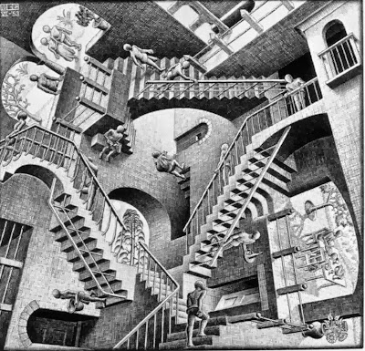 Optical Illusion Ladder Escher