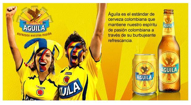 Cerveza Aguila apoya a la Selección Colombia en el partido de hoy contra Brasil