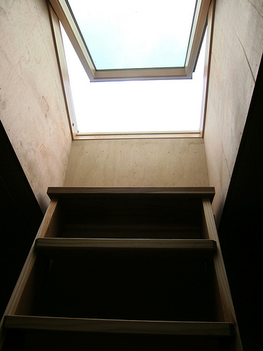 Stairs And Pivoting Skylight Pictures